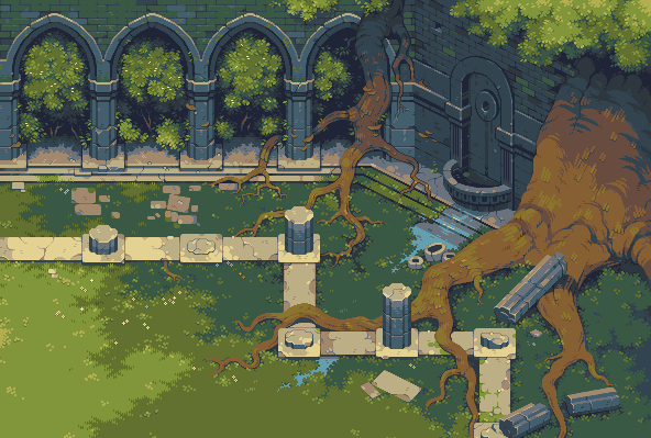 Deer God Arena/pixelart