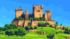 Almod�var castel/pixelart
