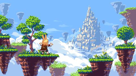 Sky island/pixelart