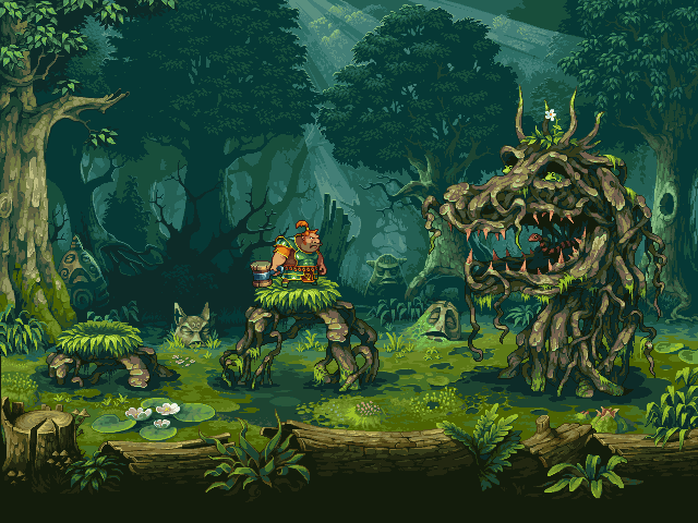 Swamp dragon/pixelart