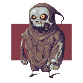 Cloaked Bone Dude/pixelart