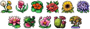 Botanist rank icons/pixelart