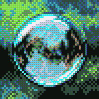 pixels with outlines
