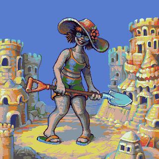 Builder of sandcastles/pixelart