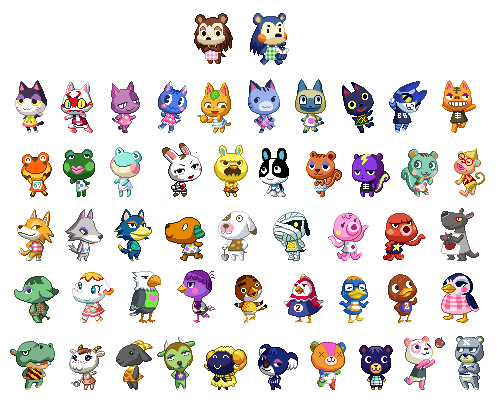 Animal Crossing Characters Drawing