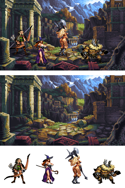 Dragon's Crown Mockup/pixelart