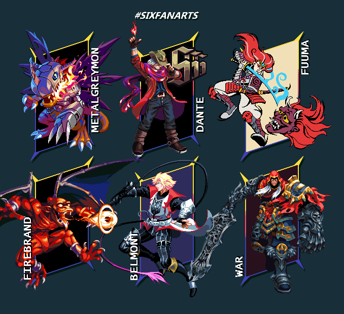 Six Fanarts Challenge/pixelart