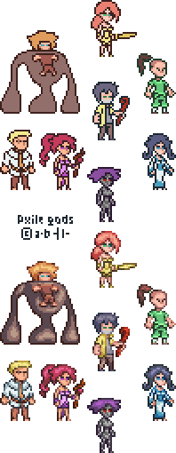 [Pxile] Gods (Main Bosses)