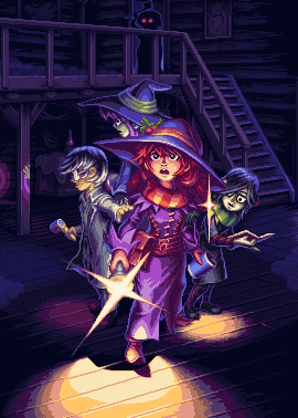 Let's hunt some ghosts!/pixelart