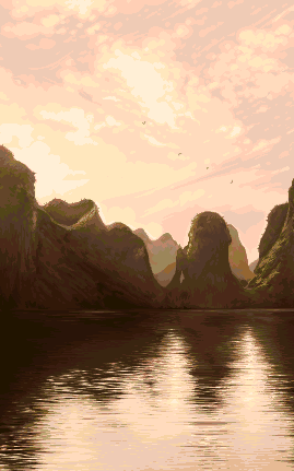 Ha Long Bay/pixelart