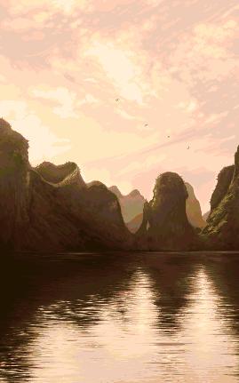 Ha Long Bay/pixelart