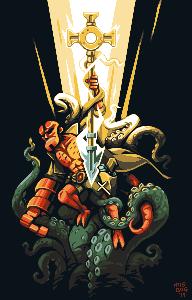 Hellboy/pixelart