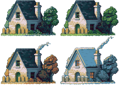 4 Seasons/pixelart