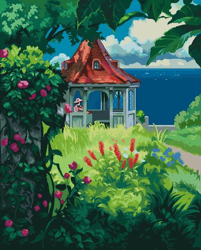 Porco Rosso Pixel Scene/pixelart