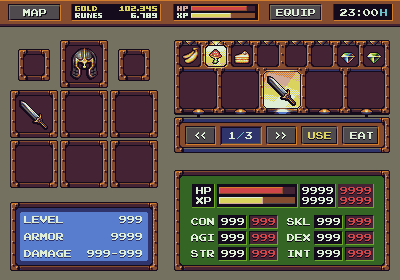 RPG Game: Interface Mockup - Update 1