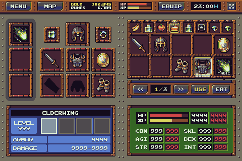 RPG Game: Interface Mockup - Update 3