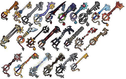 KH2 Keyblades @ PixelJoint.com