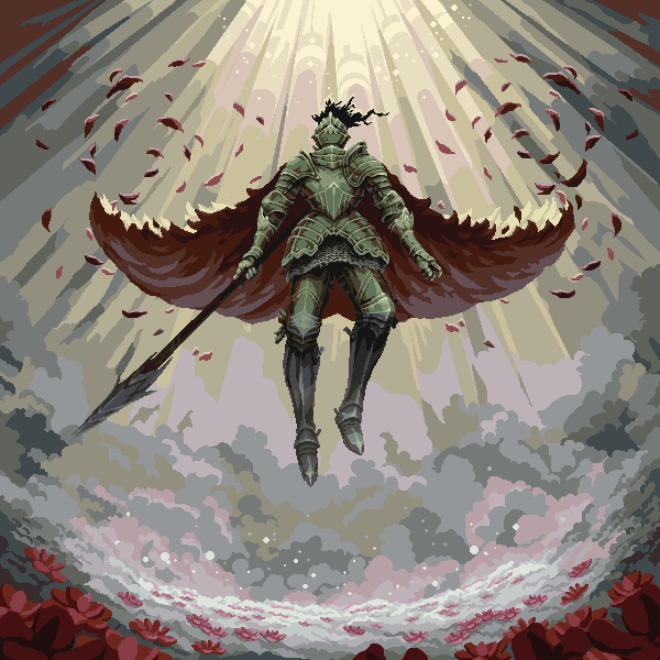Knight Of The Blossoms/pixelart