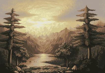 Pixelart Landscape 3 Pixeljoint Com