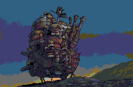 Howl's Moving Castle/pixelart
