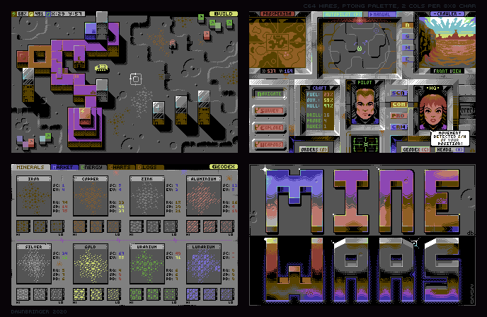 Mine Wars (C64 Hires)