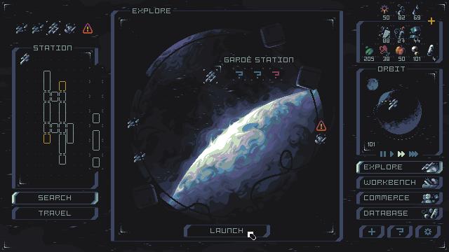 mockup - Explore screen/pixelart