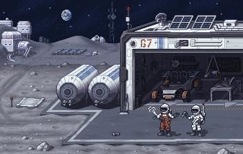 Moon Garage/pixelart