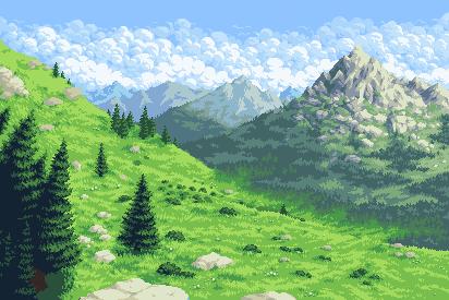 Crisp Mountain Air/pixelart