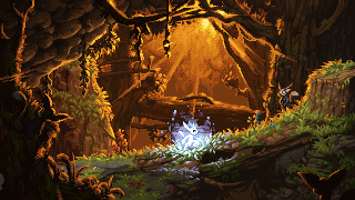 Ori and the Pixel Forest./pixelart