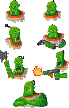 Orky faces