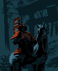 Samurai Horseman/pixelart