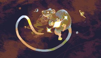 I'm the galactic rat that makes all of the worlds/pixelart