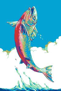 Salmon/pixelart
