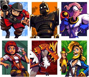 Six Fanarts Challenge - pack 1/pixelart