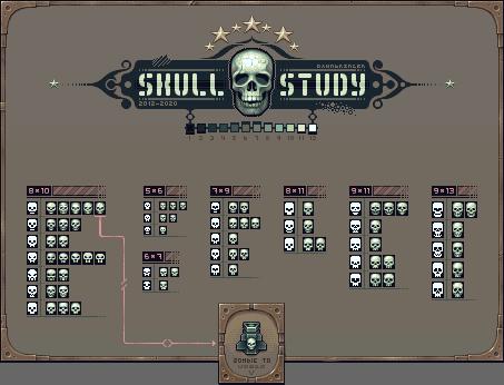 Skull Study/pixelart