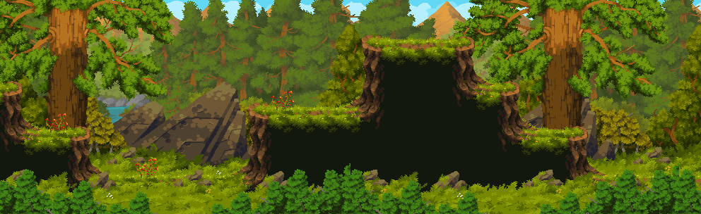 Taiga Forest/pixelart
