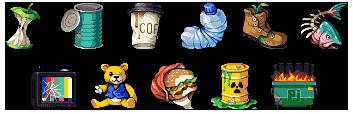 Waste rank icons/pixelart