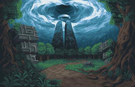Landscape - 003 (Tropical Ruins)/pixelart