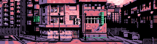 Poor part of city/pixelart