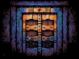 Wooden Door/pixelart