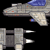Sideview spaceships icon/pixelart