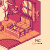 Coffee Shop icon/pixelart