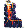 L stands for Lava icon/pixelart