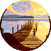 Sunset Peer icon/pixelart