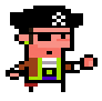Pirate icon/pixelart