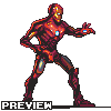 Iron man icon/pixelart