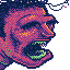 "Magical Beings Colombians:   ""Alligator Man"" icon/pixelart"