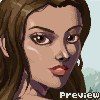 Random Girl Portrait icon/pixelart