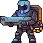 Heavy plazma guy icon/pixelart