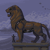 morning by the statue icon/pixelart